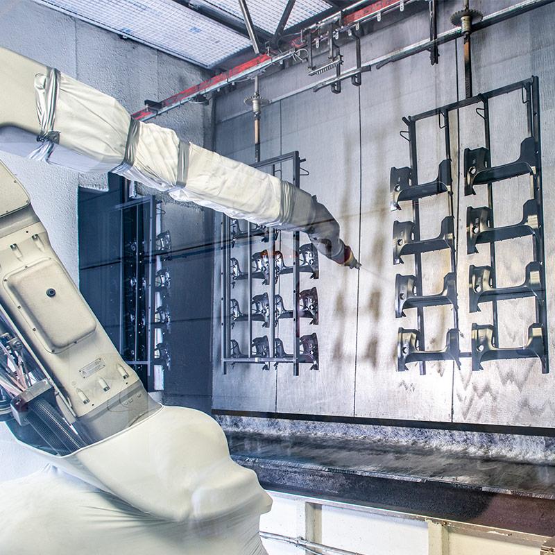 Robotlijn Industrieel lakken Perfect Coat foto